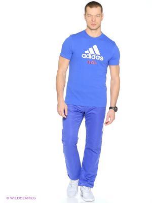 Футболка Community T-Shirt Judo Adidas. Цвет: синий, белый