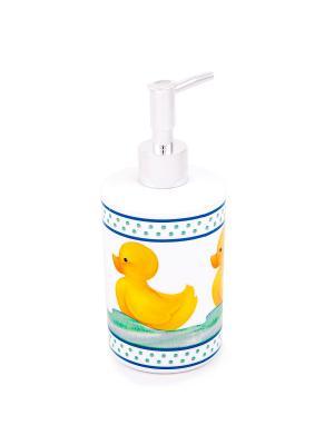Дозатор для жидкого мыла Blonder Home. Цвет: белый