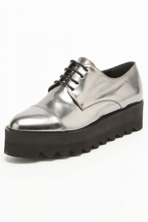 Ботинки Bouton. Цвет: серебряный