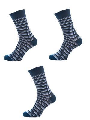 Носки Мужские,комплект 3шт Malerba. Цвет: синий