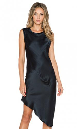 Asymmetric drape dress KES. Цвет: navy