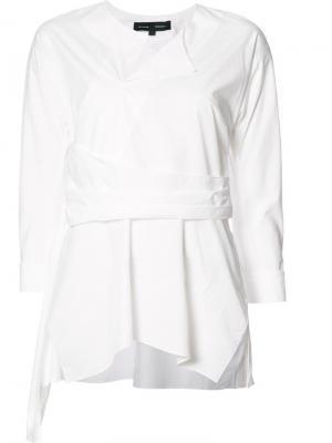 Блузка с плиссировкой Proenza Schouler. Цвет: белый