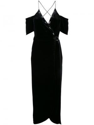 Платье с запахом Divine Excess Manning Cartell. Цвет: чёрный