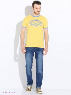 Футболки U.S. Polo Assn.. Цвет: желтый