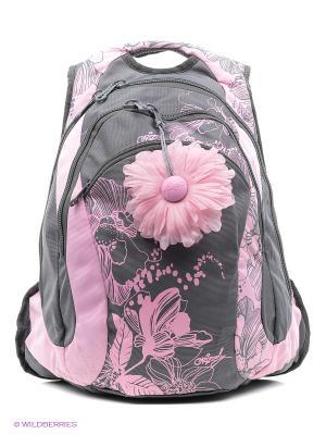 Рюкзак Grizzly. Цвет: розовый, серый