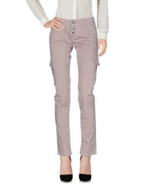 Повседневные брюки SHOCKLY. Цвет: голубиный серый