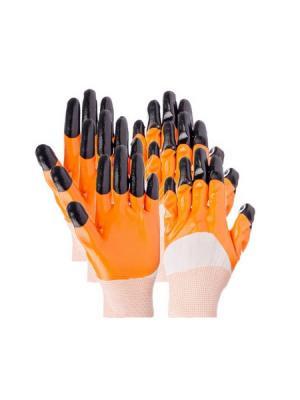 Перчатки садовые Inbloom. Цвет: оранжевый, белый, черный