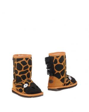 Полусапоги и высокие ботинки EMU. Цвет: оранжевый