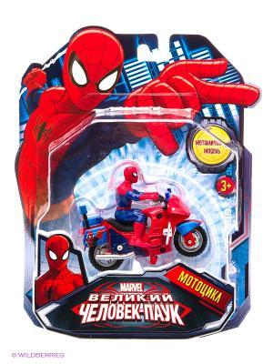 Мотоцикл металлический Технопарк Marvel. Цвет: синий, красный