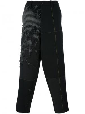 Брюки с заниженным шаговым швом Yohji Yamamoto. Цвет: чёрный