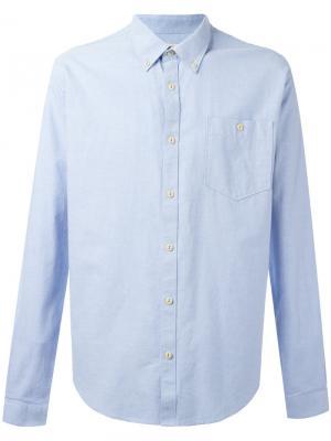 Оксфордская рубашка Charles Barbour. Цвет: синий