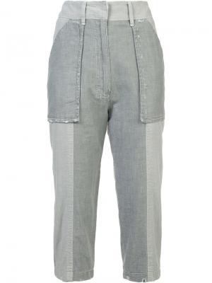 Укороченные брюки Victor Alfaro. Цвет: серый