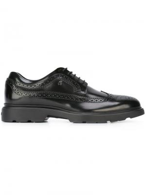 Классические туфли дерби Hogan. Цвет: чёрный