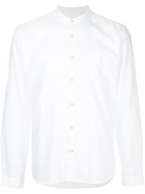 Рубашка с воротником-стойкой Oliver Spencer. Цвет: белый