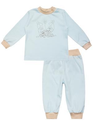 Пижама КОТМАРКОТ. Цвет: голубой, бежевый