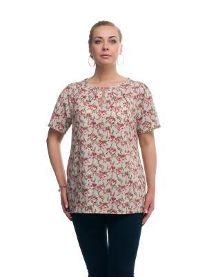 Блуза OLSI. Цвет: бежевый, красный
