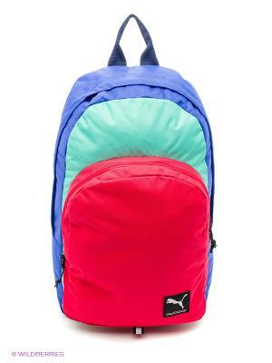 Рюкзак PUMA Academy Backpack. Цвет: синий, бирюзовый, розовый
