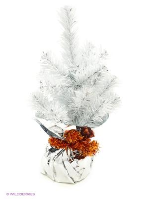 Ель искусственная Таежная Белая 0,25 м Карнавал-Премьер. Цвет: белый
