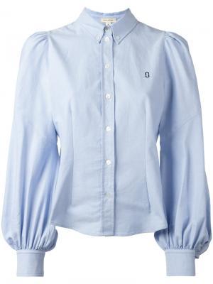 Рубашка с вышивкой Marc Jacobs. Цвет: синий