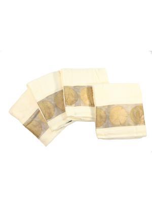 Четыре банных полотенца 127х69 см Blonder Home. Цвет: коричневый
