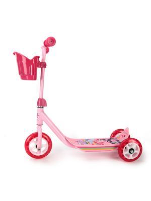 Самокат Hasbro. Мой маленький пони. 3-колесный, пластик, колеса пвх, до 20 кг. Next. Цвет: розовый