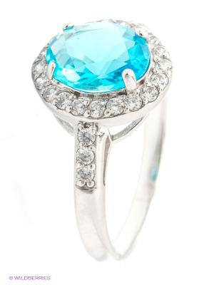 Кольцо Lovely Jewelry. Цвет: голубой