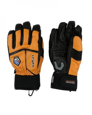 Лыжные перчатки  Off Piste Leather level. Цвет: оранжевый