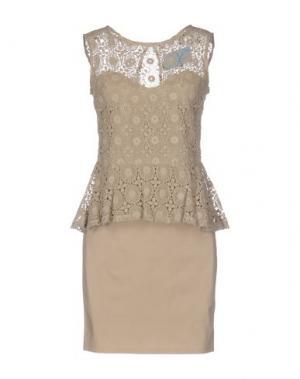 Короткое платье ..,MERCI. Цвет: бежевый