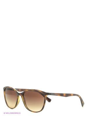 Солнцезащитные очки Emporio Armani. Цвет: коричневый