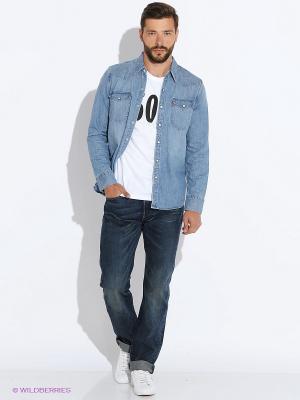 Рубашка Levi's®. Цвет: голубой