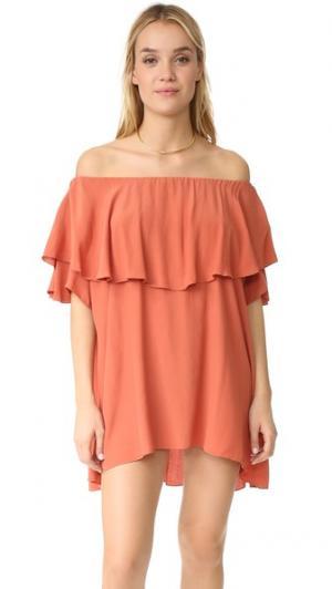 Платье Maison с открытыми плечами MLM LABEL. Цвет: оранжевый