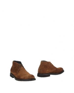 Полусапоги и высокие ботинки SEBASTIAN. Цвет: верблюжий