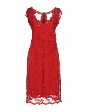 Платье до колена OLVI'S. Цвет: красный