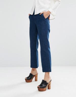 MiH Jeans Расклешенные джинсы в стиле 70‑х с нашивками‑звездами на карманах M.i.. Цвет: синий