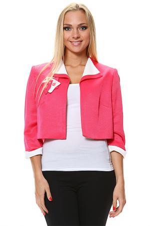 Жакет GOLD. Цвет: розовый, белый