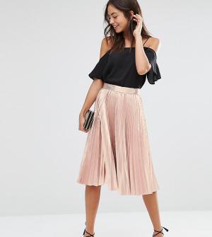 Closet London Плиссированная юбка миди цвета металлик. Цвет: золотой