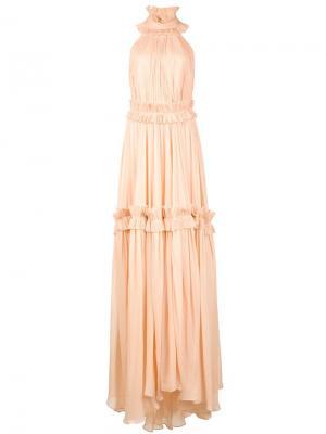 Длинное платье Sahara Maria Lucia Hohan. Цвет: жёлтый и оранжевый