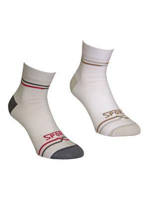 Носки 2 пары Master Socks. Цвет: белый, светло-серый