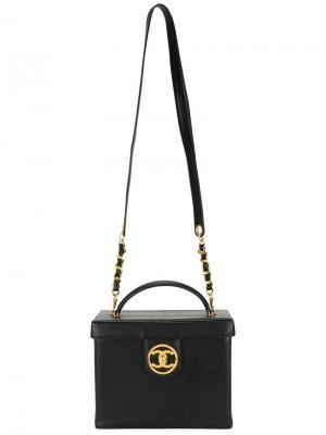 Чемоданчик для косметики 2way Chanel Vintage. Цвет: чёрный
