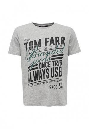 Футболка Tom Farr. Цвет: серый