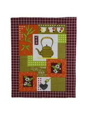 Набор кухонных полотенец Римейн. Цвет: зеленый,оранжевый