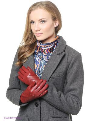 Перчатки Isotoner. Цвет: красный