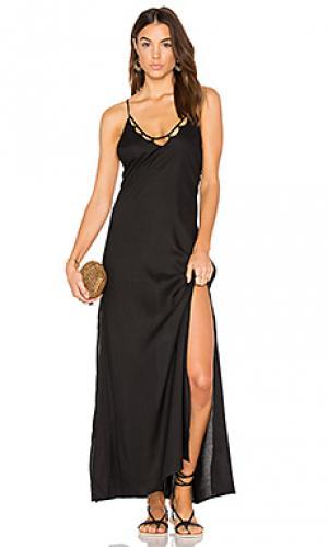 Макси платье kora Tori Praver Swimwear. Цвет: черный