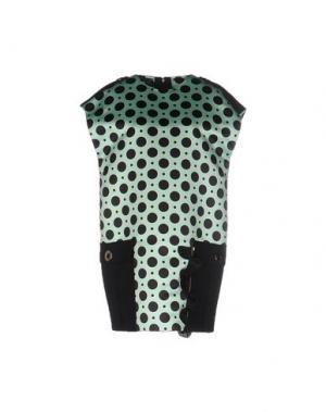 Короткое платье EMANUEL UNGARO. Цвет: светло-зеленый