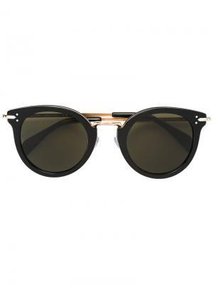 Солнцезащитные очки с круглой оправой Céline Eyewear. Цвет: чёрный