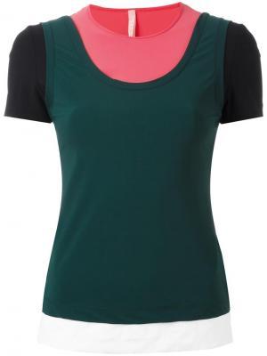 Многослойная футболка No Ka Oi Ka'. Цвет: многоцветный