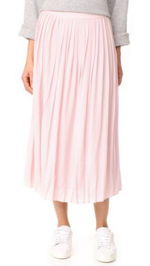 Плиссированная юбка ANINE BING. Цвет: розовый