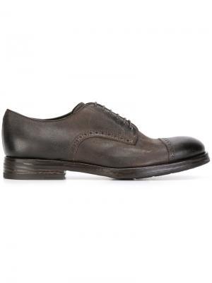 Туфли со шнуровкой Henderson Baracco. Цвет: коричневый