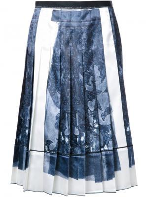 Юбка с принтом тромплей Marc Jacobs. Цвет: чёрный