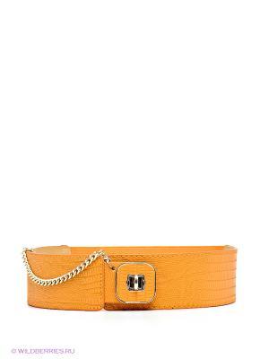 Пояс MONDIGO. Цвет: оранжевый, золотистый